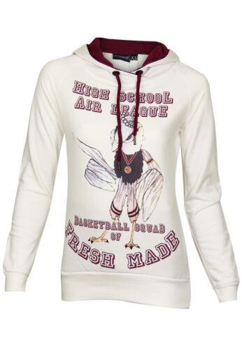 FRESH Made Donna Felpa Sweat High SchoolDesign cappuccio manica lunga Tempo Libero
