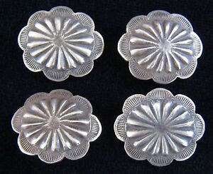 (4) 1 INCH 3rd PHASE SILVER CONCHO / BUTTONS #1020