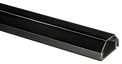 2 STÜCK DESIGN ALU-KABELKANAL 5cm x 75cm SCHWARZ TV LCD HD ALUMINIUM