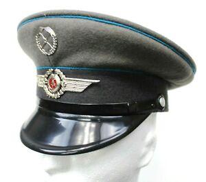 8af78adba Details about DDR EAST GERMAN AIR FORCE / LUFTWAFFE PEAKED CAP & BADGE