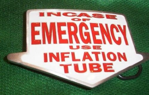 CASE EMERGENCY USE INFLATION TUBE BELT BUCKLE BUCKLES