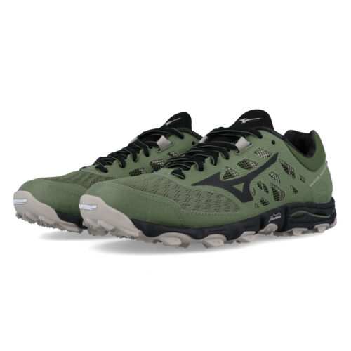 Green Sports Mizuno Womens Wave Hayate 5 Trail Running Shoes Trainers Sneakers