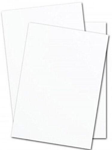 - 50 Pk Choose your size White Silk Matt Card Stock 130lb 300gsm Cover