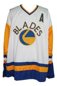 Any Name Number Size Saskatoon Blades Custom Retro Hockey Jersey White