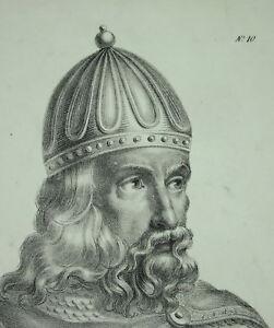 Antique-Print-Clotaire-I-aka-the-Old-Son-D-Clovis-King-of-Soisson-Merovingian