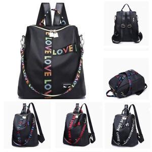 8ea4380ab7 Details about HOT Womens Girls Backpack Travel Shoulder Bag Ladies Fashion  Rucksack 4 Color