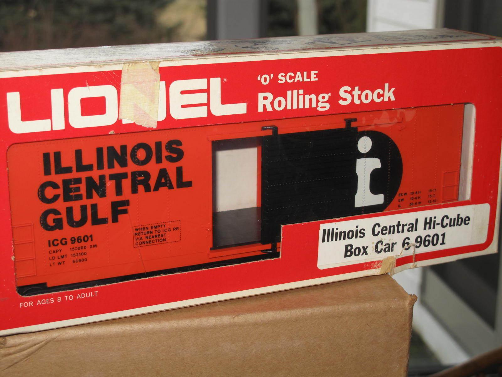 1976 Lionel 6-9601 ICG Illinois Central Gulf Hi-Cube Box Car L0642