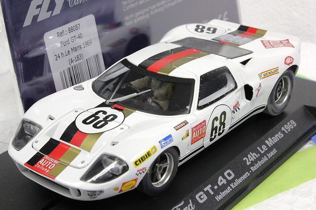 Fly A183 FORD GT40 Nouveau 1 32 slot car en vitrine Mans 1969 Reinhold JOEST