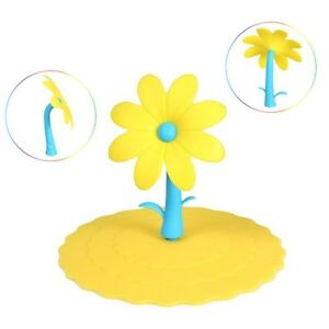 Creative-Colorful-Flower-Silicone-Dustproof-Cup-Lid-Leakproof-Cup-Cover