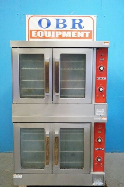 VULCAN ELECTRIC FULL SIZE DOUBLE STACKED CONVECTION OVEN MODEL VC4ED