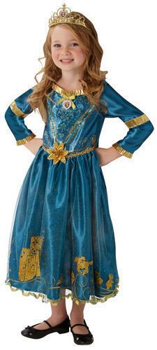 Merida Ragazze Costume Disney Principessa coraggioso Libro Settimana Giorno Costume da bambino Kids