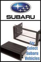 Single + Double Din Stereo Radio Install Mount Dash Trim Kit Select Subaru Cars