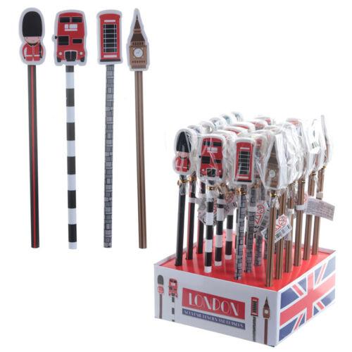 London Pencil /& Eraser Set Childrens Party Favour BIRTHDAY PRESENT GIFT IDEA