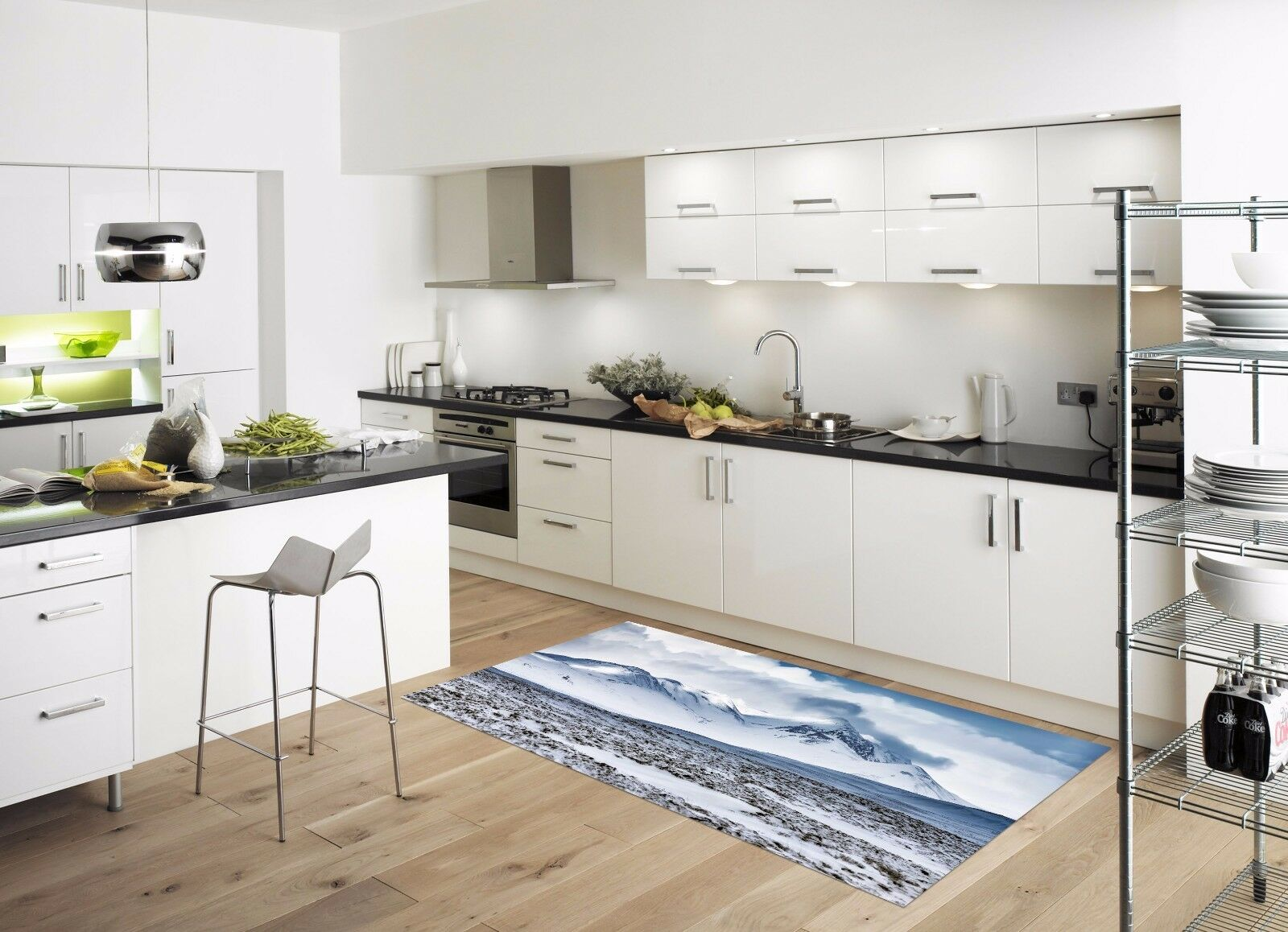 3D Stones Cloud 84 Kitchen Mat Floor Murals Wall Print Wall AJ WALLPAPER UK Kyra