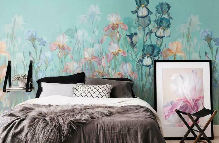 3D Flowers Painting I2518 Wallpaper Mural Sefl-adhesive Removable Sticker Wendy