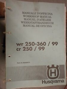 1999 Husqvarna Wr250 360 And Cr250 Service Manual Ebay