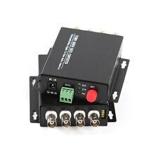 1Pair 4CH Video Fiber optic Media Converter for CCTV - RS485 data S/M 20Km FC