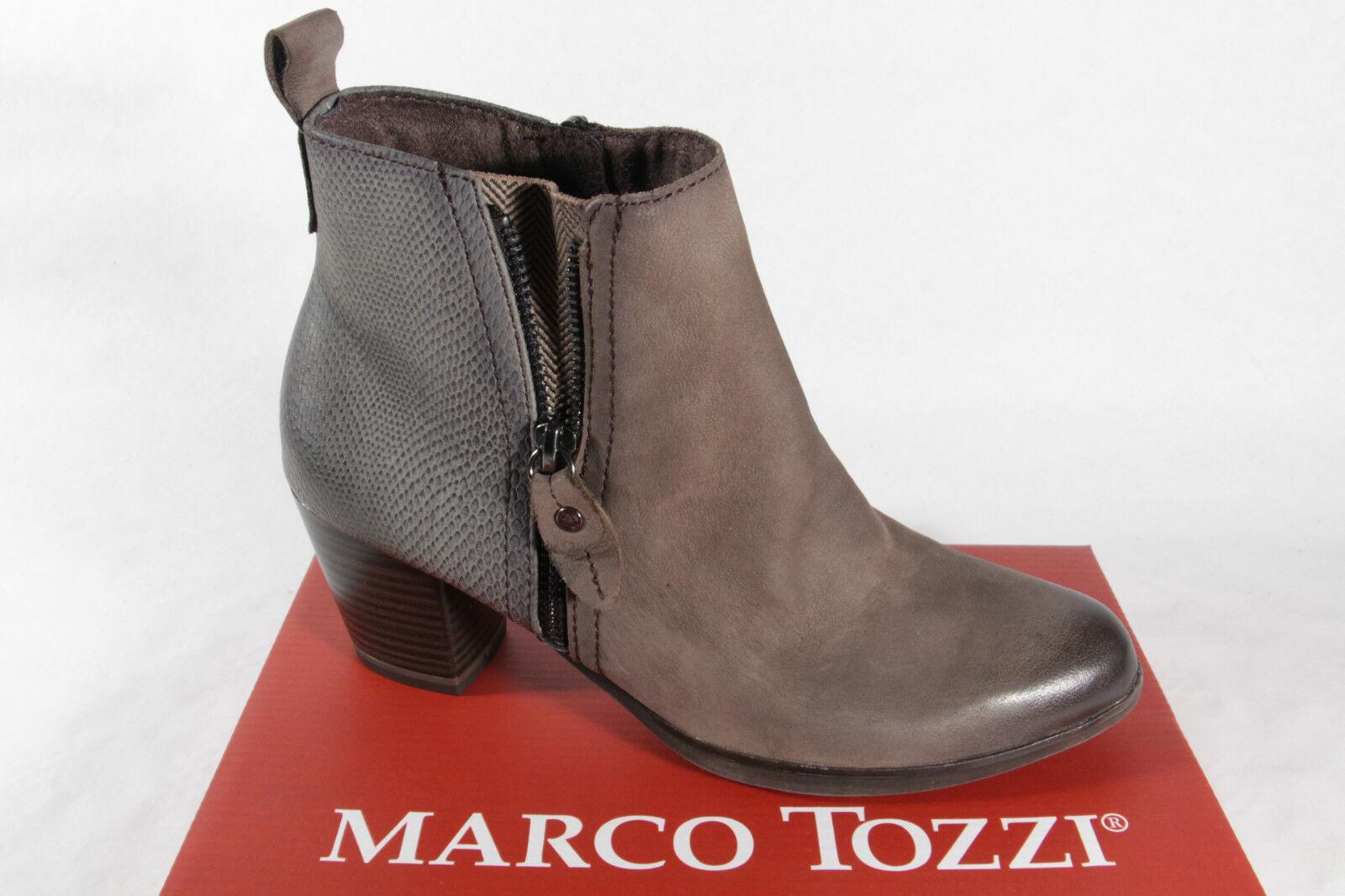 Marco Tozzi Stiefelette, Stiefel, schlamm grau, Reißverschluß  25060 NEU