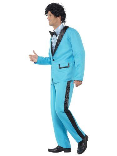 Smiffy/'s 1980 80/'s Prom King Blue Tuxedo Adult Mens Halloween Costume 43194