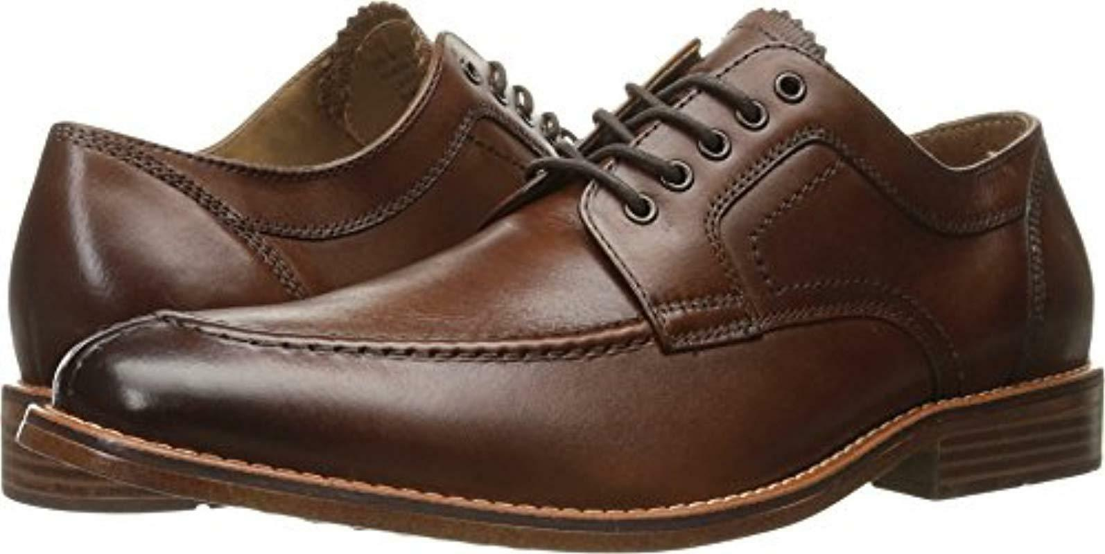 G. H. Bass Carsen Oxfords LEATHER Dress shoes Casual British Tan Brown Size 8.5