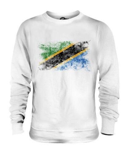 Tanzanie Drapeau Délavé Unisexe Pull Tanzanien Maillot de Football Cadeau