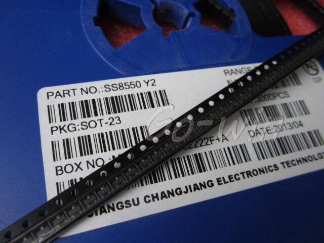 100PCS SS8550 SOT-23 TRANS PNP 25V 1.5A NEW