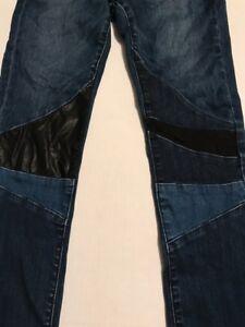 Boutique-BLANKNYC-GIRLS-14-Vegan-Faux-Leather-Patch-SKINNY-Denim-JEANS-D003E
