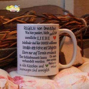 Tasse Regeln Von Oma Opa Geschenk Weihnachten Großeltern Ebay