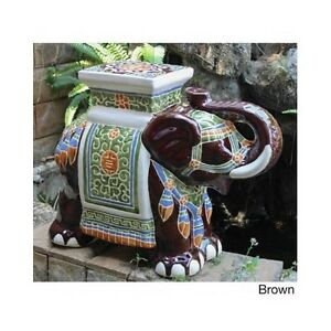 Marvelous Image Is Loading Porcelain Garden Stool Ceramic Elephant Plant Stand Patio