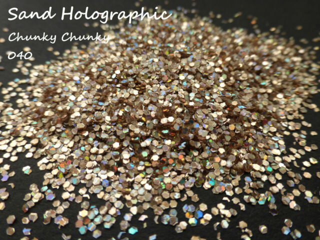 Nail Art Chunky 5g Glitter 040 - 008 - 015 Mixes Holographic & Iridescent