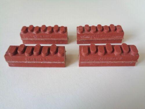 * Nos Vintage 1970s WEINMANN Brick pastiglie dei freni rosse aggiornamento a 7 punti (x4pcs) *