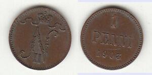 1-Penni-1903-Finnland-Russland-Zar-Nikolai-II-huebsch-lovely-stampsdealer
