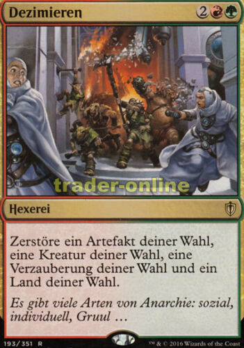 Decimate Commander 2016 Magic Dezimieren