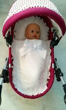 Dolls pram set fits Silver Cross Ranger prams : Pillow+Cover+ Mattress +hood fur