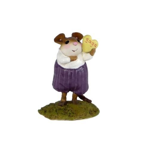 Wee Forest Folk Limited Edition M-564 - He's Gaga for U Miniature Figurine