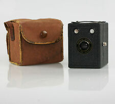 Vintage KODAK Popular Brownie Camera with Case uses 620 Film c. 1937-38 (J87)