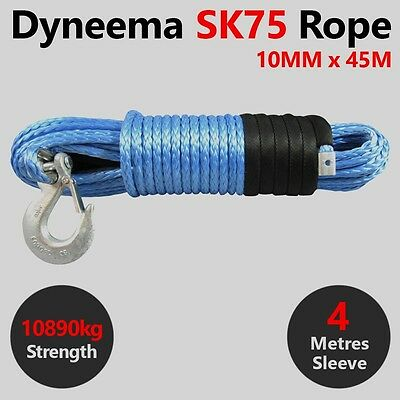 3MM X 6M Dyneema SK75 Winch Rope S Hook Quad ATV Boat Marine Cable Webbing