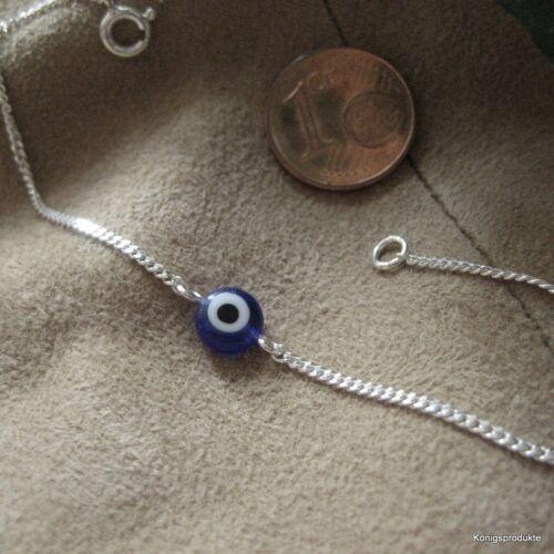 Farbe /& Länge wählbar Nazar 1 Armband mit Glücksauge in 925er Silber