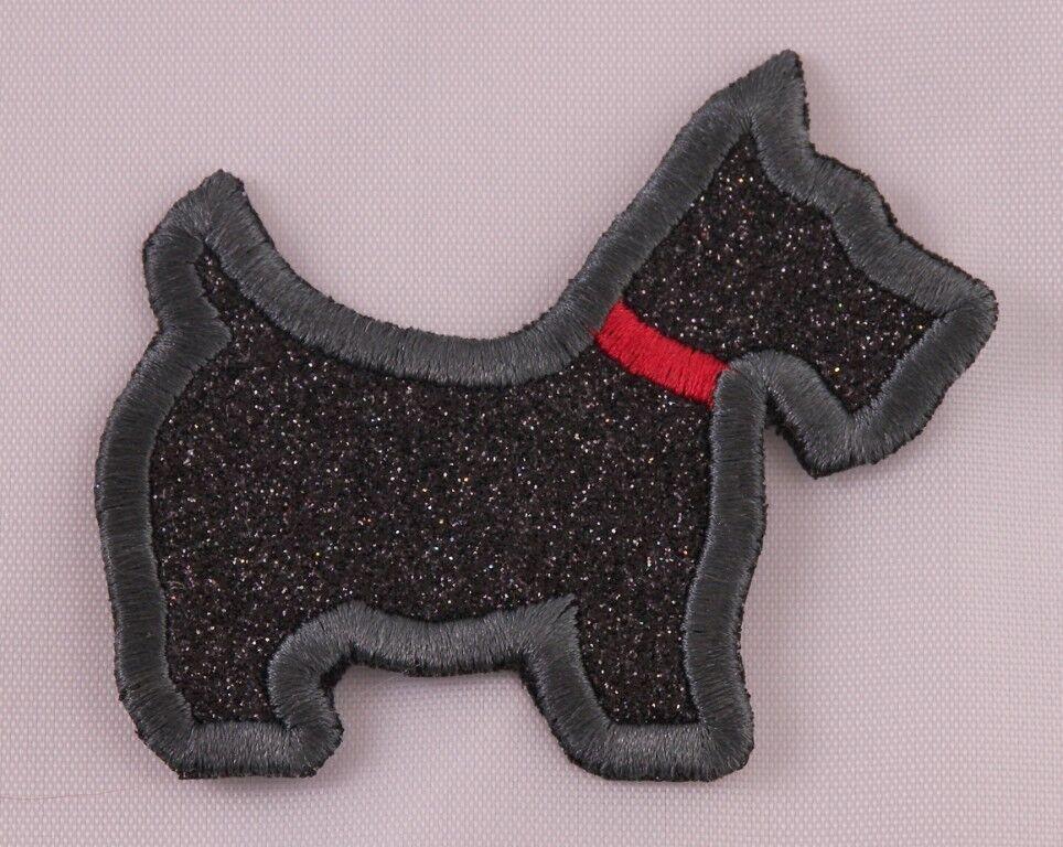Iron on Scottie Dog Applique Patch