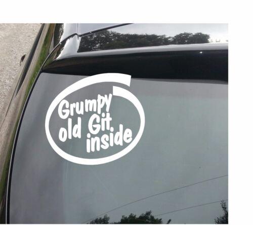 GRUMPY OLD GIT INSIDE Funny Novelty Joke Car//Van//Window//Bumper Sticker//Decal