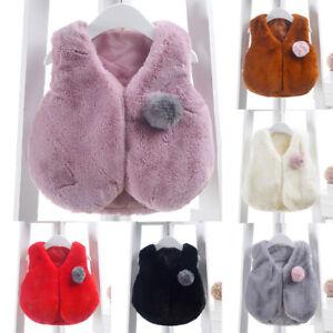 Cute Toddler Winter Vest Sleeveless Coat Outerwear Jacket Waistcoat Warm Clothes