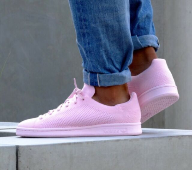 Adidas Stan Smith PK Primeknit Semi Pink Glow S80064 Mens Shoes Sneakers Mens 9