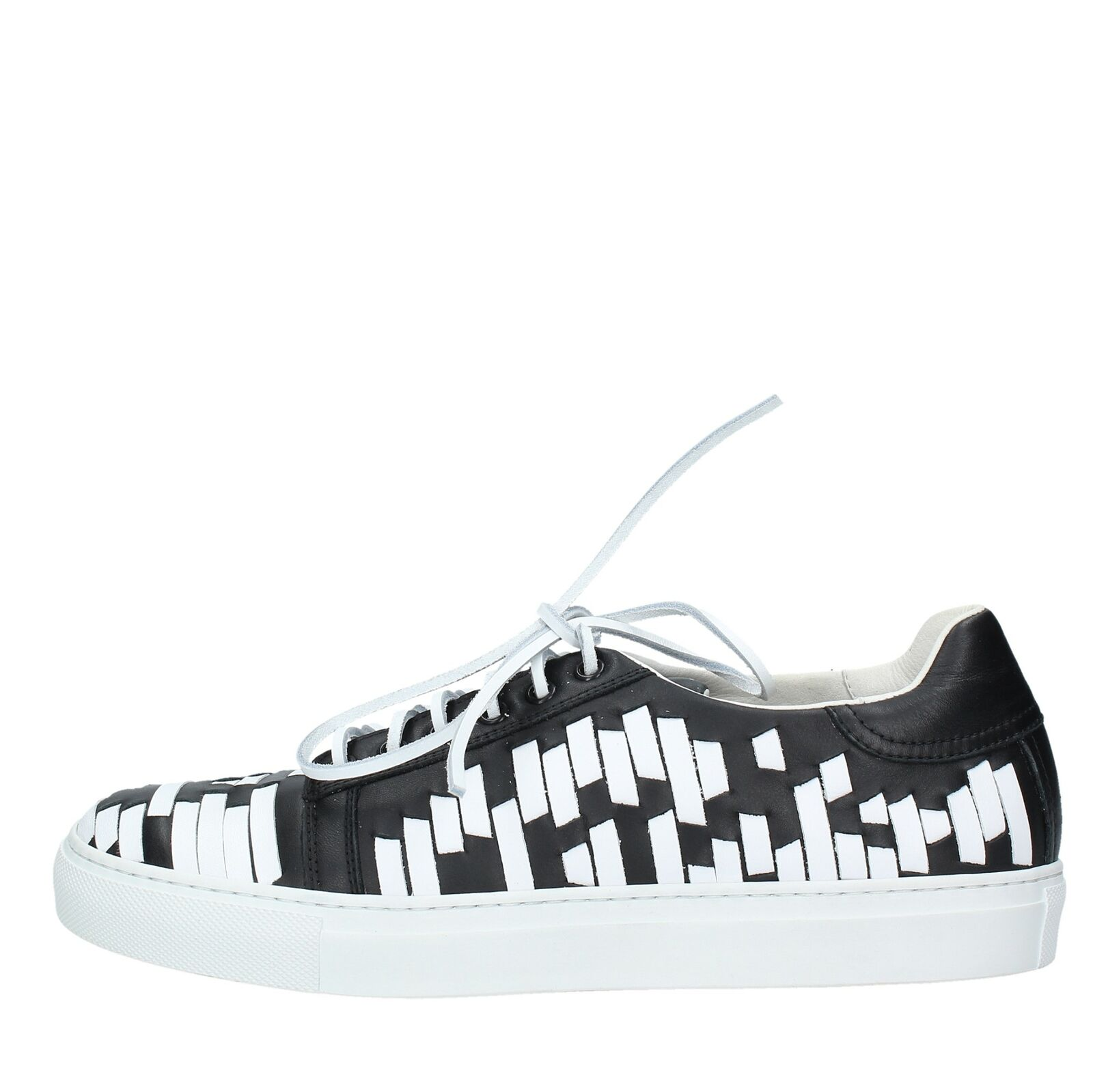 NV1119 Scarpe scarpe da ginnastica CESARE PACIOTTI uomo Bianco Nero
