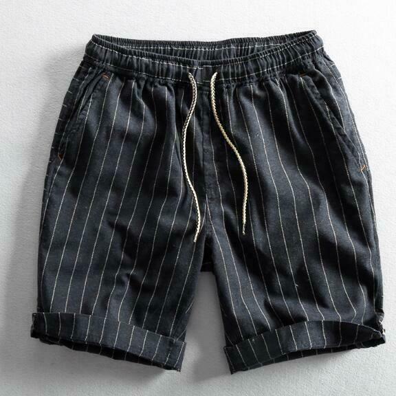 Mens Vintage Japanese Style Cotton Linen Drawstring Casual Shorts Pants HOT H836