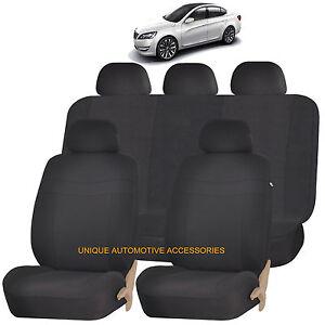 black elegance airbag compatible seat cover set for kia sorento forte ebay. Black Bedroom Furniture Sets. Home Design Ideas