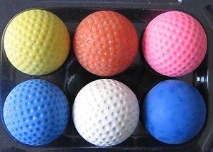 PRO-SET-Minigolfbaelle-6x-Minigolfball-in-verschiedenen-Haerten-der-Baelle-NEU