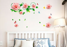 5700081 | Wall Stickers Roses Vines and Motifs in Pink Romantic Bedroom Design