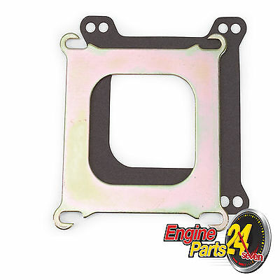 """HOLLEY SQUARE BORE ADAPTER PLATE .100"""" THICK FOR EDELBROCK SPREADBORE INLET 2732"""