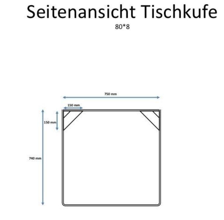 2er Set  Tischbeine gebogen Design Tischkufen  mit Aussteifung