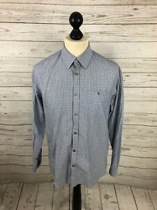 TED-BAKER-Shirt-Size-3-Medium-Blue-Great-Condition-Men-s